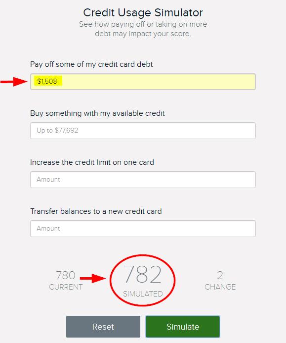 credit score simulation for raising your credit score fast